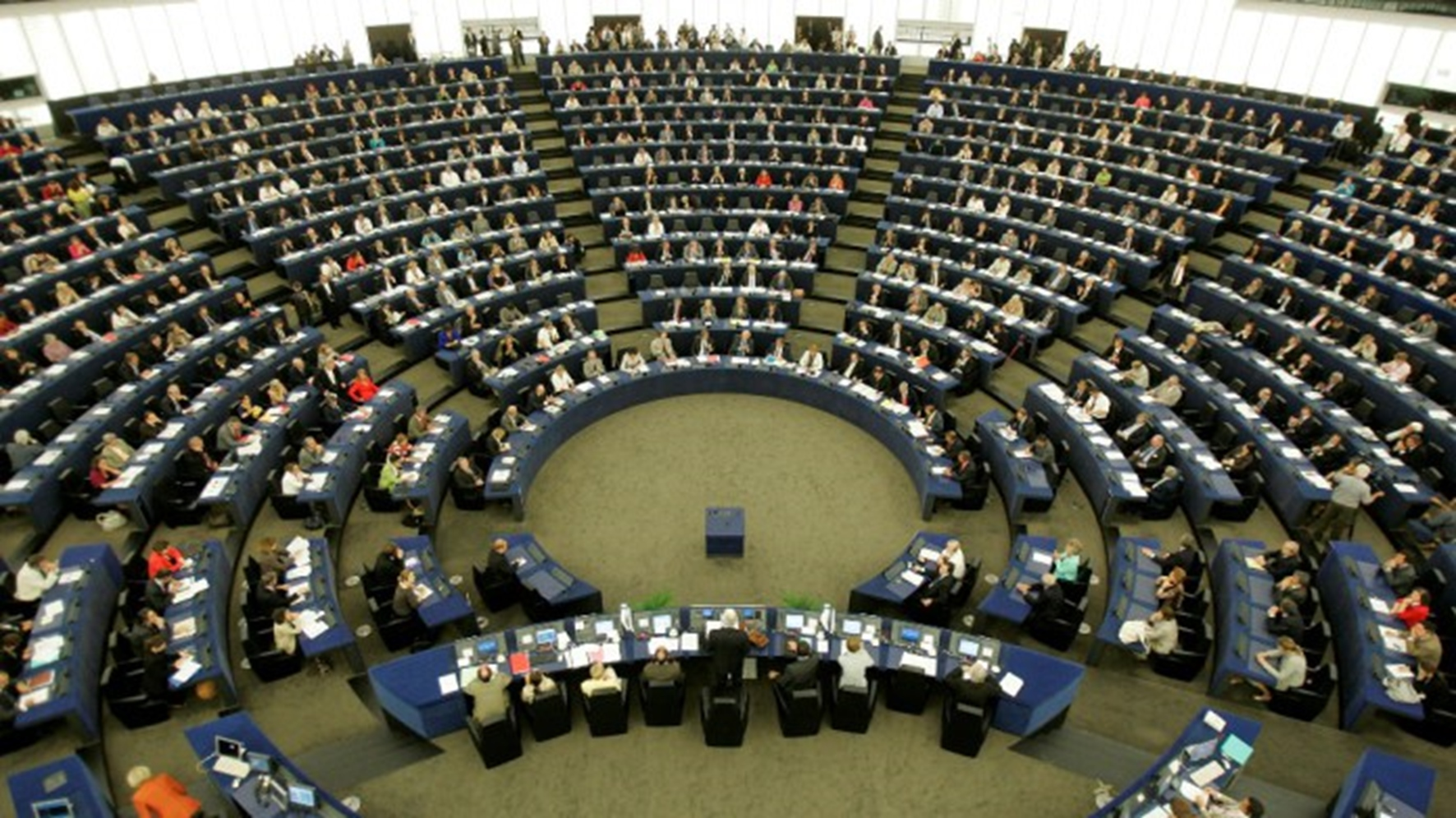 The Plenary Room Of The European Parliament In Strasbourg, Eastern France, Is Seen During The Election Of The New European Parliament's President Jerzy Buzek Of Poland, Tuesday, July 14, 2009. (AP Photo/Lionel Cironneau)