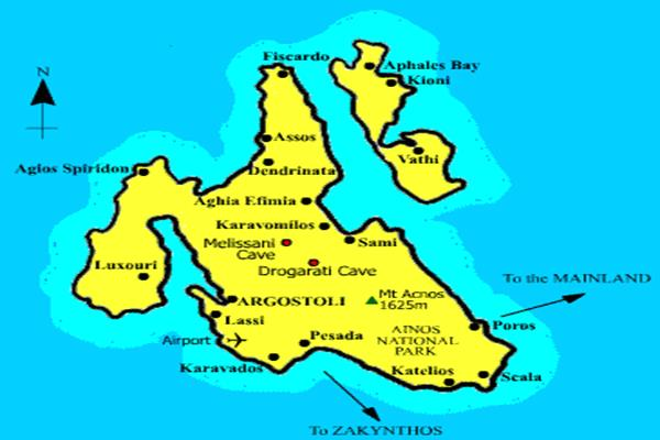 Kefalonia Ithaki Map (Copy)