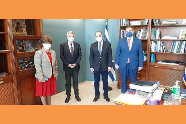 Με τον Δήμαρχο Ληξουρίου Γιώργο Κατσιβέλη στα Υπουργεία Εσωτερικών και Ναυτιλίας & Νησιωτικής Πολιτικής