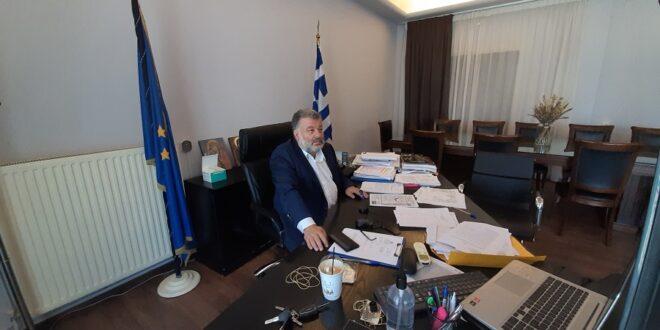 Τηλεδιάσκεψη εργασίας υπό τον Πρωθυπουργό Κυριάκο Μητσοτάκη
