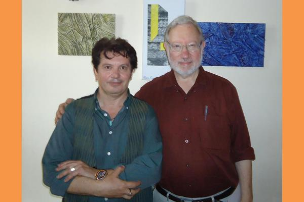 O Prof.LOUIS KAUFFMAN με τον ζωγράφο ΚΩΣΤΑ ΕΥΑΓΓΕΛΑΤΟ (Copy)