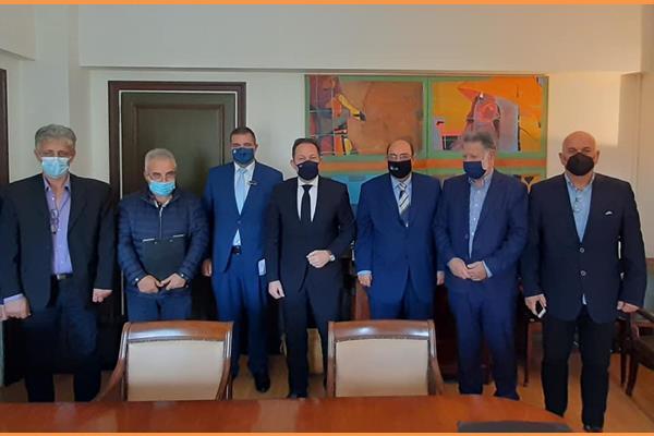 Κατσιβέλης και Μονιάς στη συνάντηση με τον αναπληρωτή Υπουργό Εσωτερικών κύριο Πέτσα